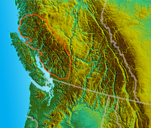 Pacific Ranges - Image: South BC NW USA relief Pacific Ranges
