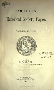 Southern Historical Society Papers volume 19.djvu