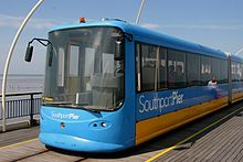 The Southport Pier Tramway. Southport Pier Tram.jpg