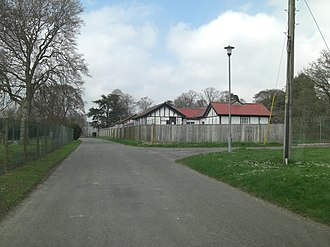 Netheravon Airfield - Part of the officers' quarters at Airfield Camp