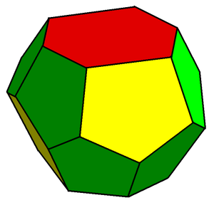Tetradecahedron - A tetradecahedron with D2d symmetry, existing in the Weaire–Phelan structure
