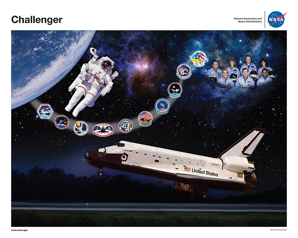 Space Shuttle Challenger tribute poster