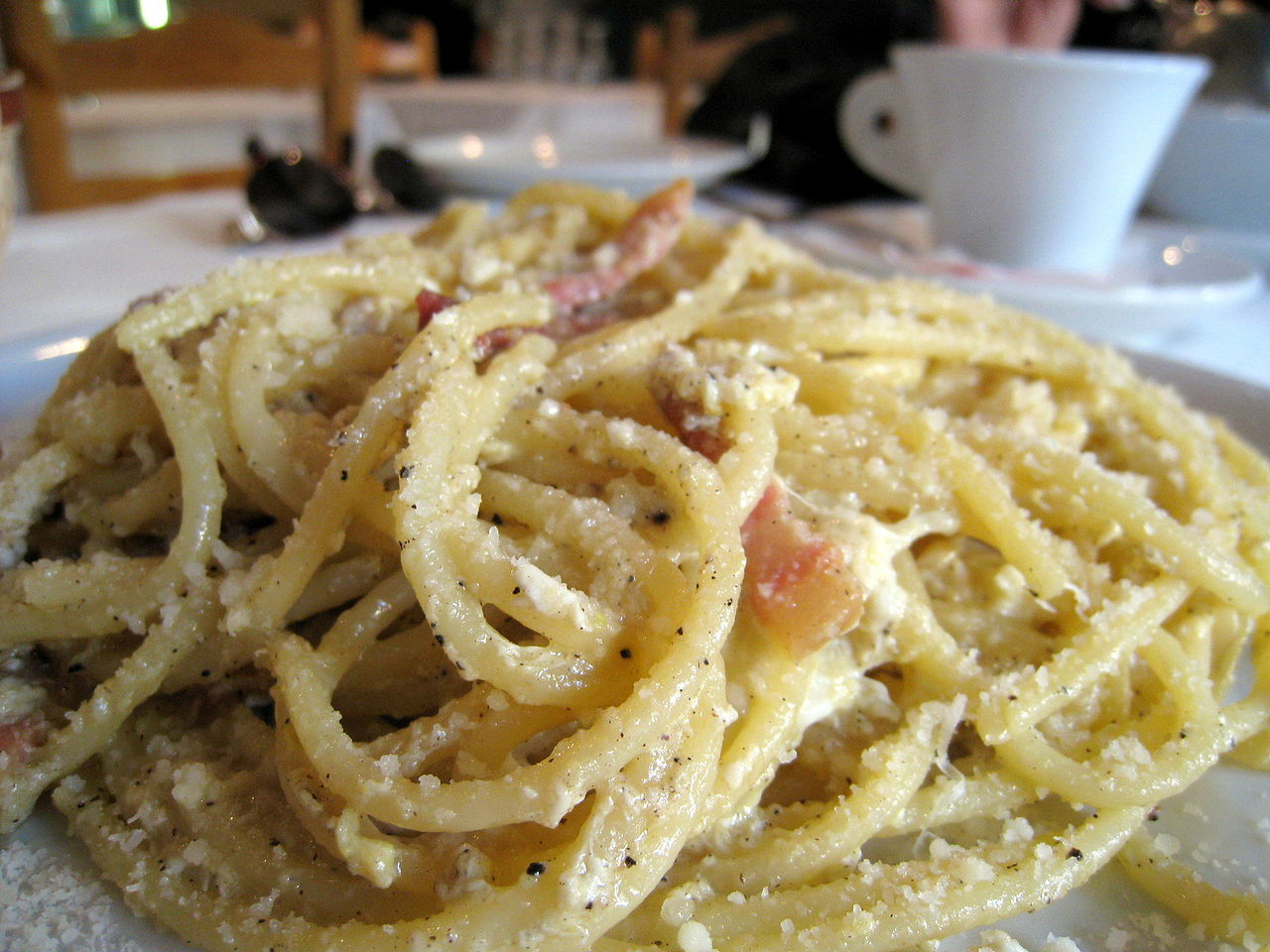 Filespaghetti Carbonara Trishhhhjpg Wikimedia Commons