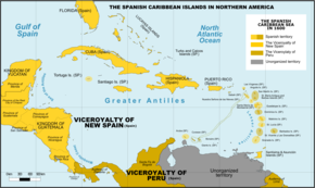 Spanish Caribbean Islands in the American Viceroyalties 1600.png