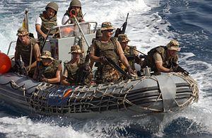 Spanish Navy Marines - Spanish marines assigned to the frigate SPS ''Numancia'' (F83).