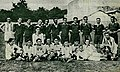 Spanish and Belgium national football teams before the match between each other in the 1920-21 season.jpg