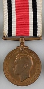 Special Constabulary Long Service Medal, George VI obverse.jpg