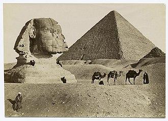 Adelphoi Zangaki - Image: Sphynx et la grande pyramide