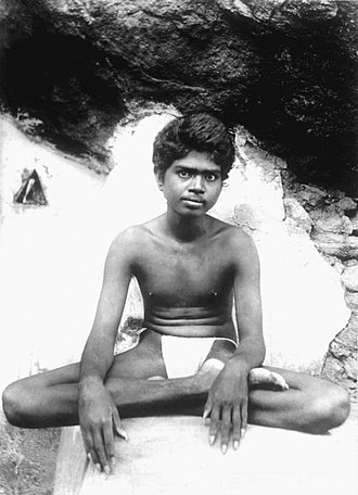 Ramana Maharshi - Venkataraman as a young man.