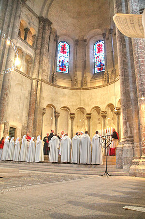 Monastic Fraternities of Jerusalem - Opening vespers for the new community in Groß St. Martin, Cologne, April 2009