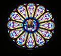 St. Anthony church (Cedar Rapids, Nebraska) S rose window.JPG