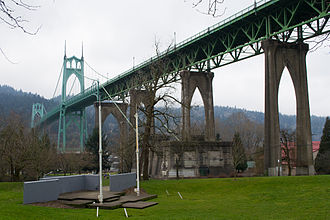 Reportedly haunted locations in Oregon - Cathedral Park is said to be haunted by Thelma Taylor, a teenager who was murdered there in 1949.