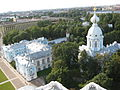 St. Petersburg. Smolny Convent. Residential housing (quads) with angular church..JPG