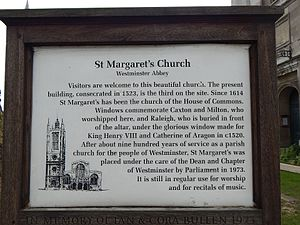 St Margaret's, Westminster - Image: St Margerets Church London February 2016