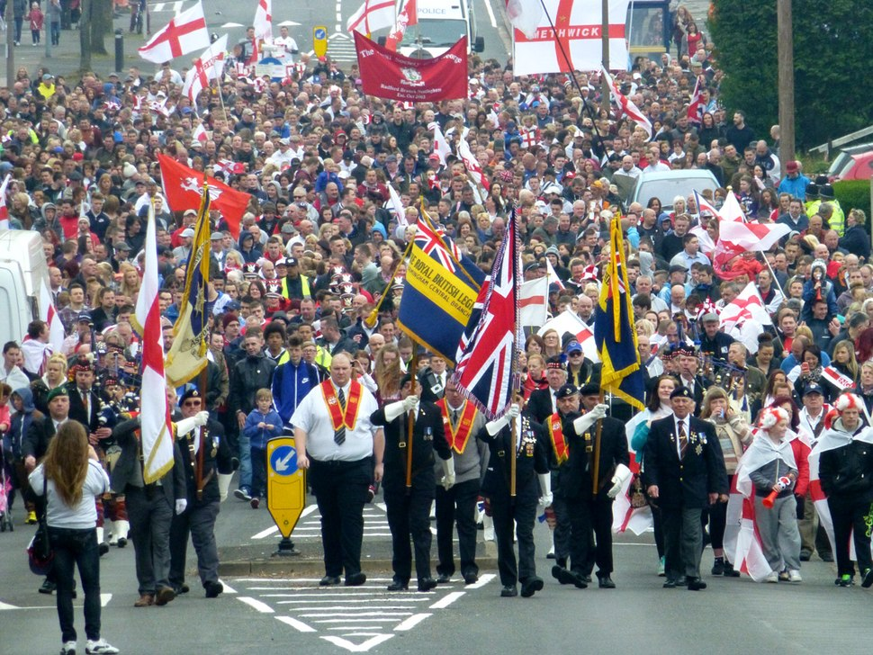 St George's Parade at Stone Cross (20.04.2014)