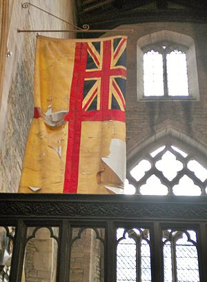 USS Stockton (DD-73) - Ludlow's ensign on display in St Laurence, Ludlow