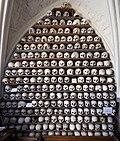 St Leonard's church ossuary, Hythe - skulls.jpg