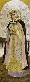 St Olga by Nesterov in 1892