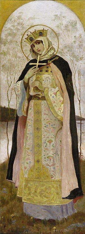 Olga of Kiev - Saint Olga by Mikhail Nesterov