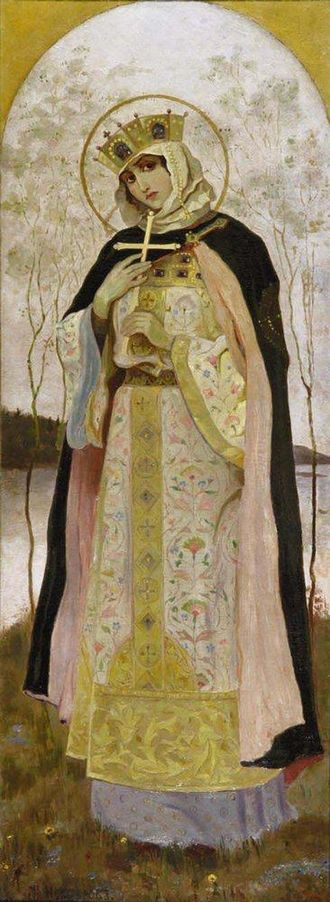 Prince of Novgorod - Image: St Olga by Nesterov in 1892