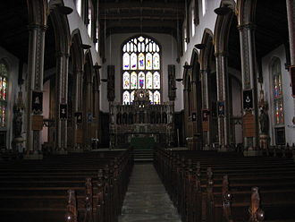 Stonyhurst College - Interior of St Peter's Church