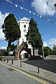 St Peter's Church, gate and bunting.jpg