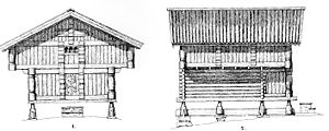 Vernacular architecture in Norway - Example of loft architecture in Numedal