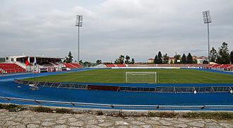 KF Skënderbeu Korçë - Image: Stadiumi Skënderbeu