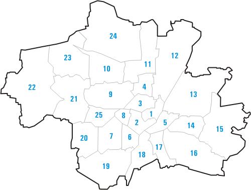 Stadtbezirke Lage in München