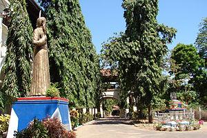 Ferdinand Bonnel - Statue of Fr. Bonnel in front of St. Michael's College National School, Batticaloa