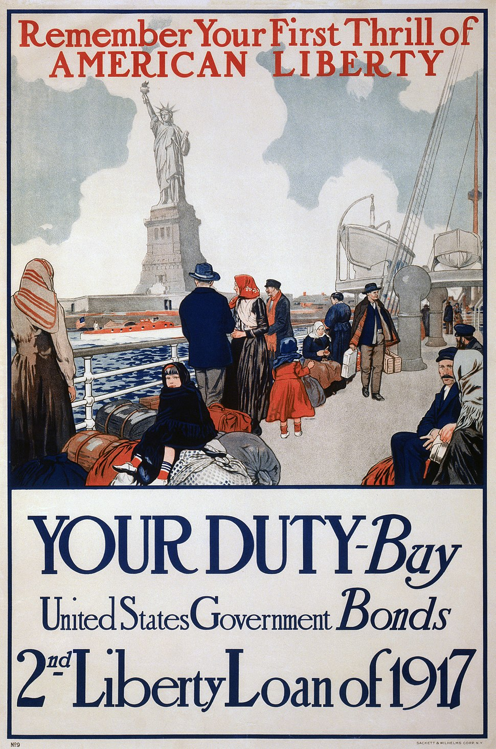 Statue of Liberty 1917 poster