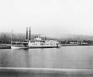 Oneonta (sidewheeler) - Image: Steamer Oneonta Columbia River 1867