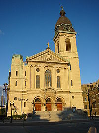 St. John Cantius Roman Catholic Church, one of the city's many 'Polish Cathedrals'.