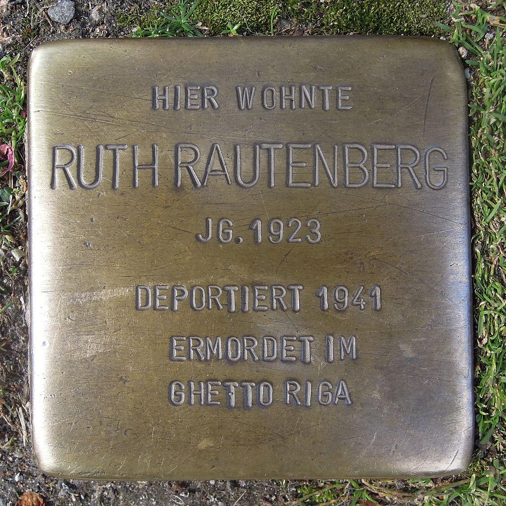 Stolperstein für Ruth Rautenberg