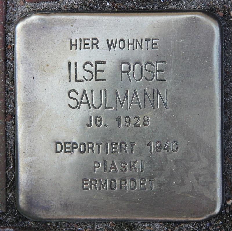 Stolperstein Friedenstr 17 (Heringsdorf) Ilse Rose Saulmann.jpg