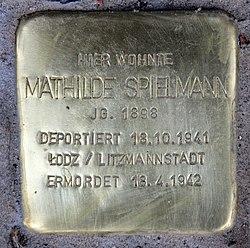 Photo of Mathilde Spielmann brass plaque