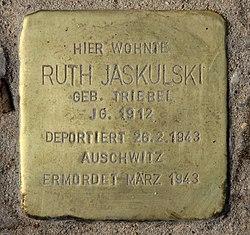 Photo of Ruth Jaskulski brass plaque