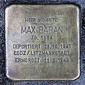 Stolperstein Lottumstr 16 (Prenz) Max Baran.jpg