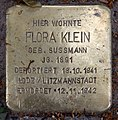 Stolperstein Pariser Str 49 (Wilmd) Flora Klein.jpg