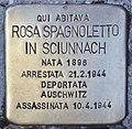 Stolperstein für Rosa Spagnoletto in Sciunnach (Rom).jpg