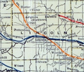 Stouffer's Railroad Map of Kansas 1915-1918 Lincoln County.png