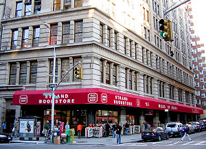 Used bookstore - The Strand Book Store at 828 Broadway (and 12th St)