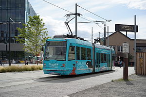 South Lake Union Streetcar - Car 301 in South Lake Union.