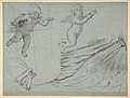 Studies of Two Flying Putti and of Drapery (recto); Seated Virgin and Child, and Kneeling Child (verso) MET DP811531.jpg