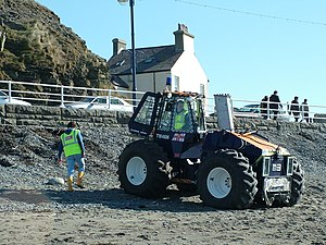 Aberystwyth Lifeboat Station - Talus MB4H Launching Tractor