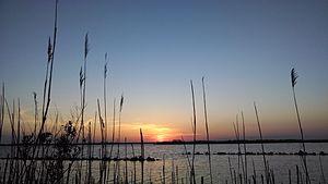 Back Bay National Wildlife Refuge - Sunset over the Currituck Sound at Back Bay National Wildlife Refuge