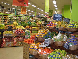 Grocery store - The produce section in a supermarket