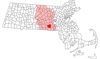 Amos Singletary - Singletary represented his hometown of Sutton (red, with Worcester County in pink) at various conventions.