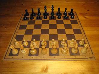 Masonite - A chessboard made of Masonite.