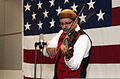 Swil Kanim, a Native American violinist and community advocate, plays his violin for U.S. Sailors during a ceremony celebrating Native American Heritage Month in the Grand Vista Ballroom at Naval Station Everett 131114-N-MM360-088.jpg